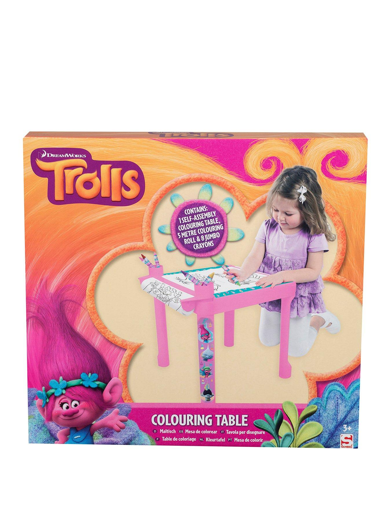 Compare prices for Dreamworks Trolls Colouring Table