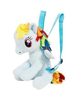 my little pony rainbow dash character plush backpack