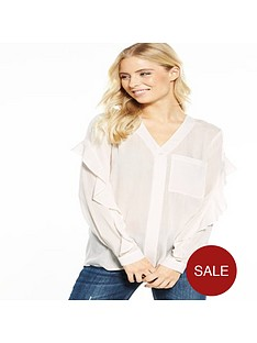 v-by-very-frill-sleeve-crinkle-shirt