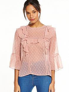 v-by-very-dobby-ruffle-blouse-dusky-pink