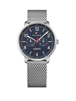 Tommy Hilfiger Tommy Hilfiger Will Blue Multi Dial Stainless Steel Mesh Bracelet Ladies Watch