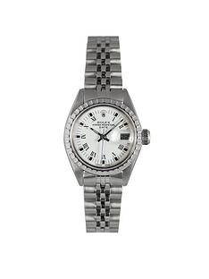 rolex-rolex-preowned-ladies-steel-date-white-roman-numeral-dial-reference-6924-ladies-watch-with-original-papers