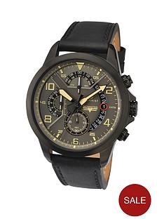 accurist-accurist-multi-dial-black-leather-strap-mens-watch