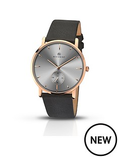 accurist-accurist-grey-dial-rose-tone-case-black-leather-strap-mens-watch
