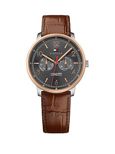 tommy-hilfiger-will-grey-multi-dial-rose-tone-case-leather-strap-mens-watch