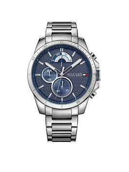 Tommy Hilfiger Tommy Hilfiger Decker Blue Multi Dial Stainless Steel Braclet Mens Watch