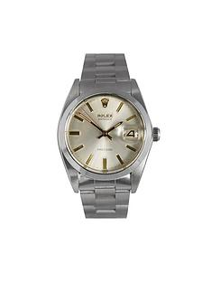 rolex-rolex-preowned-oysterdate-precision-silver-dial-ref-6694-mens-watch
