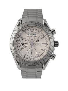 omega-omega-preowned-speedmaster-triple-calendar-silver-dial-ref-32213-mens-watch