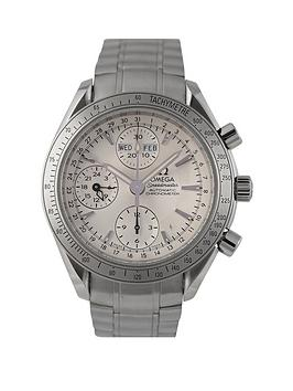 Omega Omega Preowned Speedmaster Triple Calendar Silver Dial Ref 3221.3 Mens Watch