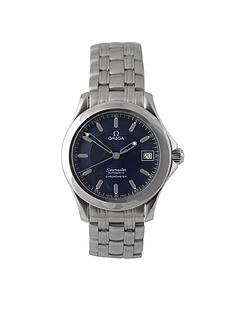 omega-omega-preowned-seamaster-automatic-blue-dial-ref-250181-mens-watch-with-original-papers