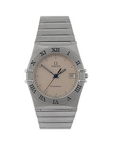 omega-omega-preowned-constellation-steel-quartz-silver-dial-mens-watch
