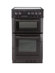 swan-sx2021b-50cm-wide-ceramic-twin-cavity-freestanding-electric-cooker--nbspnext-day-delivery-black