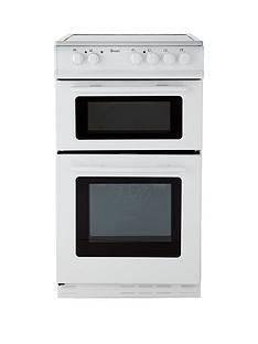 swan-sx2021w-50cm-wide-ceramic-twin-cavity-freestanding-electric-cooker--nbspnext-day-delivery-white