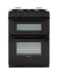 swan-sx2061b-60cm-wide-freestanding-double-oven-gas-cooker--nbspnext-day-delivery-black