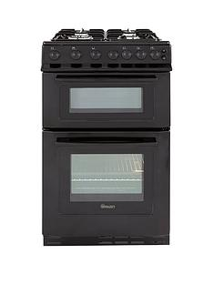 swan-sx2071b-50cm-wide-freestandng-twin-cavity-gas-cooker--nbspnext-day-delivery-black