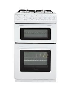 swan-sx2071w-50cm-wide-freestanding-twin-cavity-gas-cooker-next-day-delivery-white
