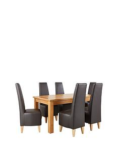 oakland-170-cm-100-solid-wood-dining-table-amp-6-manhattan-chairs