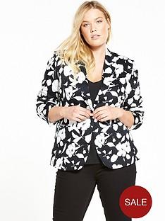 v-by-very-curve-mono-print-floral-blazer
