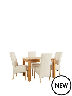 new-oakland-120cm-solid-wood-dining-table-amp-4-eternity-chairs