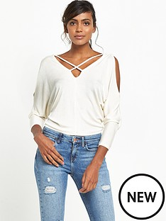 river-island-batwing-top-cream