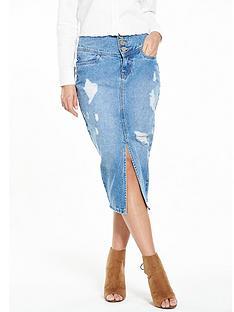 lost-ink-lost-ink-high-waisted-denim-shreaded-skirt