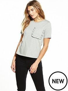 lost-ink-frill-pocket-t-shirt-grey