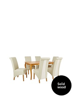 alisha-150-cm-solid-wood-dining-table-6-sienna-leather-and-suede-chairs