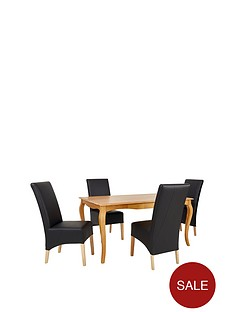 alisha-solid-wood-dining-table-4-eternity-chairs
