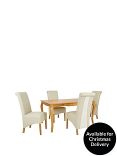 alisha-150cm-solid-wood-dining-table-4-sienna-chairs