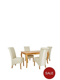 alisha-150cm-solid-wood-dining-table-4-sienna-chairs