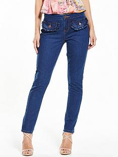 lost-ink-frill-pocket-slim-fit-jeans-ndash-dark-denim