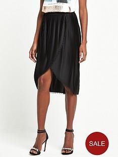 river-island-wrap-pleat-black-skirt-black