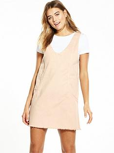 lost-ink-denim-pinafore-dress-cream