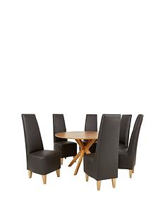 starburst-119-cm-oak-veneer-circular-dining-table-6-manhattan-chairs