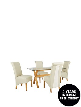 venla-150-cm-solid-wood-and-glass-dining-table-4-sienna-chairs
