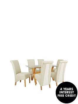 venla-150-cm-solid-wood-and-glass-dining-table-6-sienna-chairs-arrives-in-one-delivery