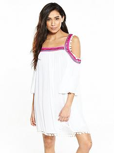 v-by-very-cold-shoulder-smock-beach-dress