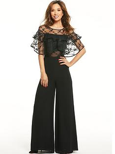 myleene-klass-ruffle-lace-wide-leg-jumpsuit-black