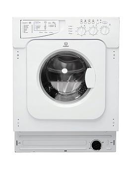 indesit ecotime iwme147 7kg load, 1400 spin, integrated washing machine  - washing machine only
