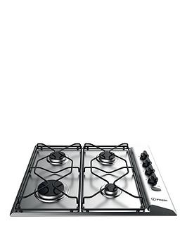 Indesit   Aria Paa642Ixiwe 60Cm Built-In Gas Hob With Fsd - Stainless Steel - Hob Only