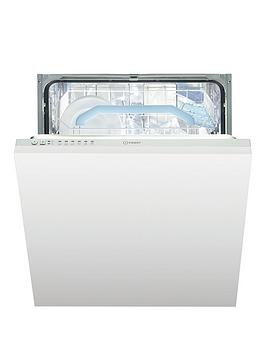 Indesit   Dif16B1Uk 13-Place Full Size Integrated Dishwasher With Quick Wash - White - Dishwasher Only