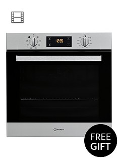 indesit-aria-ifw6340ixuk-built-in-singlenbspelectric-oven-with-optional-installation-stainless-steel