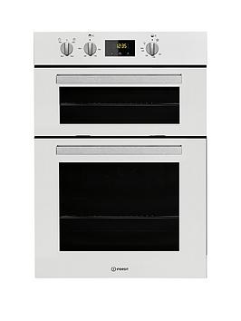 Indesit Aria Idd6340Wh BuiltIn Double Electric Oven  White  Oven Only
