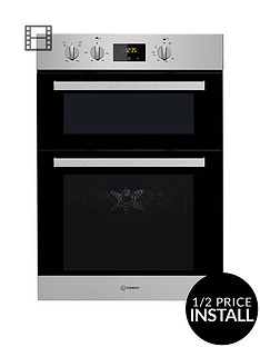 indesit-aria-idd6340ixnbspbuilt-in-double-electric-oven-with-optional-installation-stainless-steel