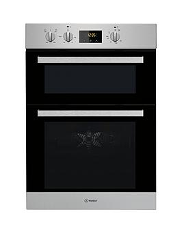 Indesit Aria Idd6340Wh BuiltIn Double Electric Oven  Stainless Steel  Oven Only