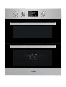 Indesit Aria Idu6340Ix BuiltUnder Double Electric Oven  Stainless Steel  Oven Only