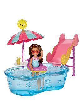 Barbie Barbie Club Chelsea Pool &Amp Water Slide
