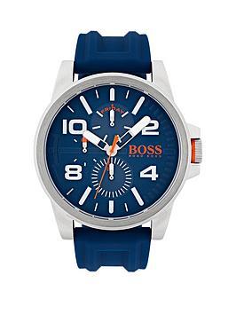 Hugo Boss Hugo Boss Orange Detroit Blue Multi Dial Blue Rubber Strap Mens Watch