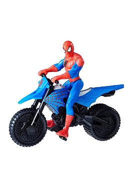 Marvel SpiderMan With Supercross Cycle