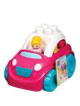 Mega Bloks Pink Convertible Car